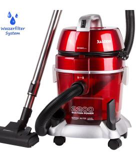 Vysavač s vodním filtračním systémm  příkonem 2200 W, červená
