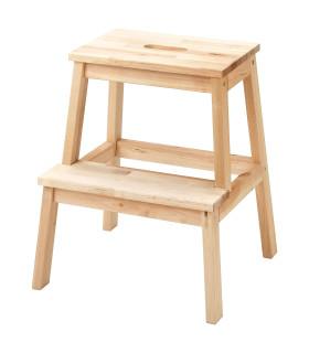 Schůdky dřevěné, bříza, výška 50 cm