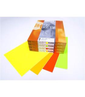 Fluorescentní etikety S&K Label - oranžové, 210 x 297 mm, 100 ks
