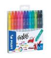 Gumovací fixy Pilot FriXion Colors, sada 12 barev