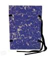 Spisové desky mramorované A4 modré, 25 ks