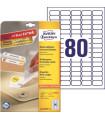 Snímatelné etikety, bílé, 35,6 x 16,9 mm, 2400 ks