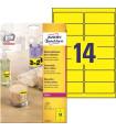 Neonové etikety samolepící, žluté, 99,1 x 38,1 mm, 350 ks