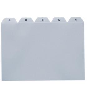 Rozlišovače do kartoték A5 - PVC, potištěné A-Z, 25-dílné, šedé